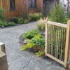 Oak garden gate and oak gate posts