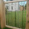Single garden gate with oak gate posts