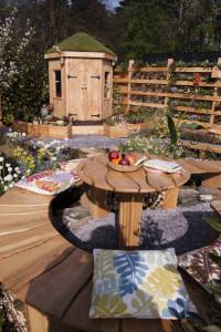RHS Cardiff Silver Gilt winning garden,. Made for Gardens: Nurture in Nature.
