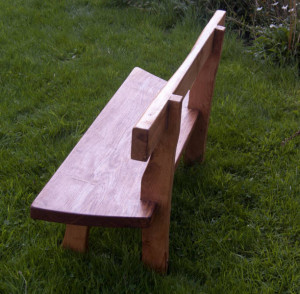 Rustic oak garden bench