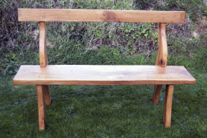 Hand made oak garden bench
