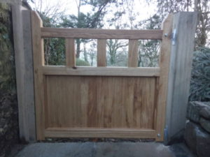Hand made oak garden gate.
